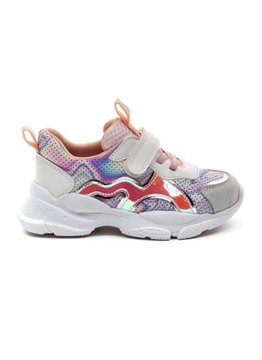 minipicco Kız Cocuk Deri Ortopedik Destekli Spor Ayakkabı Beyaz